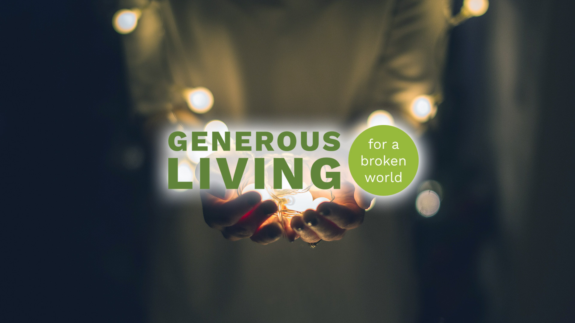 Sermon series generous living chelten a church of hope for Generous living